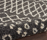 "Moroccan Shag MRS02 Power Loomed 100% Polypropylene Charcoal 3'11"" x 6'7"" Rectangle Rug"