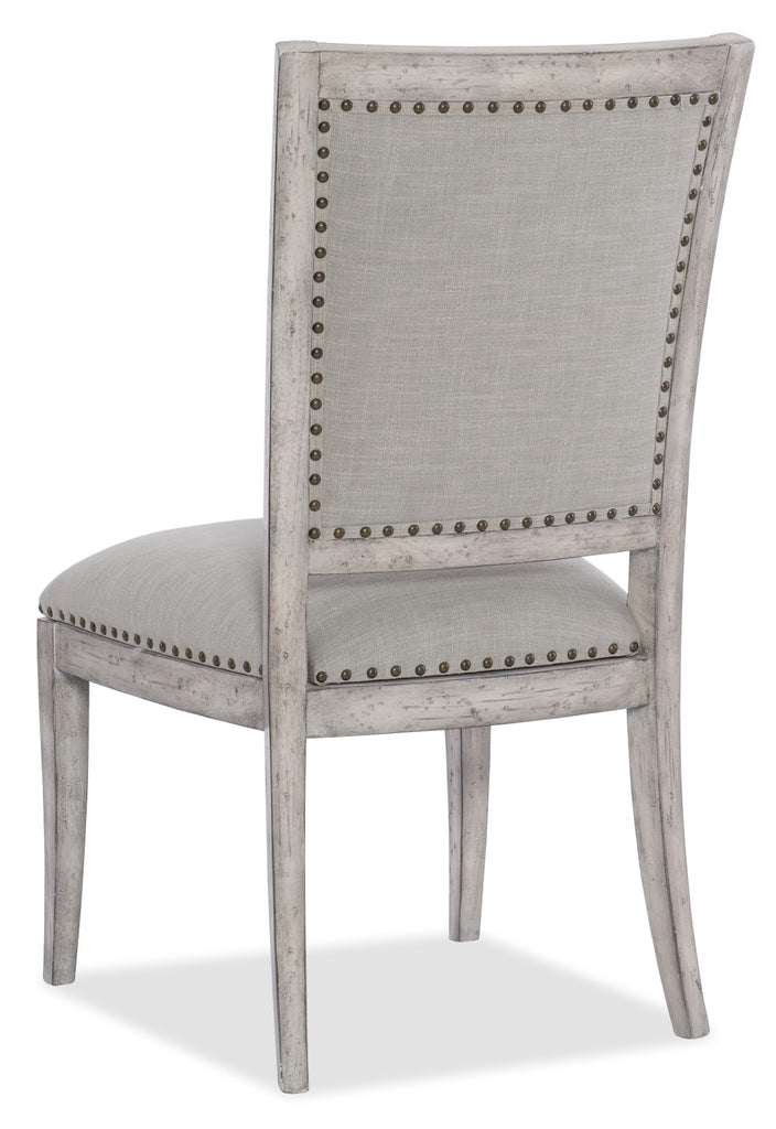 Hooker Furniture - Set of 2 - Boheme Traditional-Formal Vitton Upholstered Side Chair in Rubberwood and Hardwood Solids with Fabric 5750-75410-LTWD