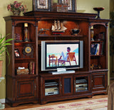Hooker Furniture Brookhaven Traditional-Formal Home Theater Group in Hardwood Solids with Cherry Veneers 281-70-111