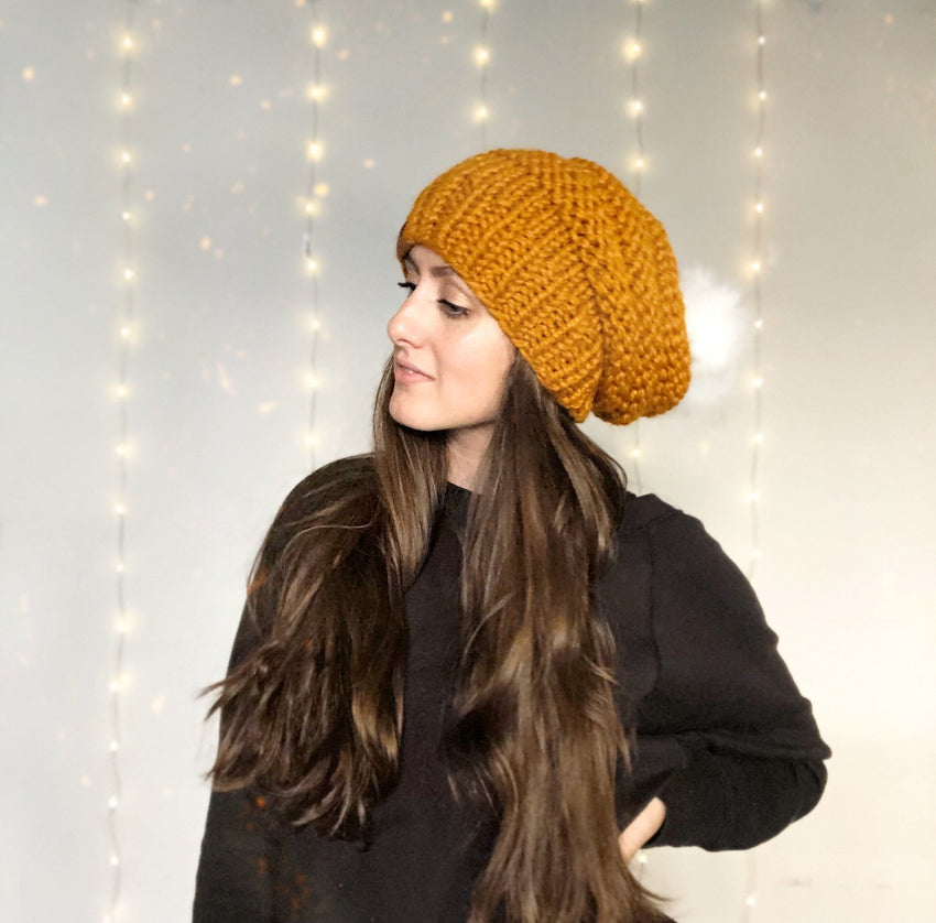 Moonshine Slouchy Beanie // Butterscotch
