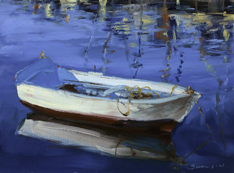 Rowboat in Blue Water
