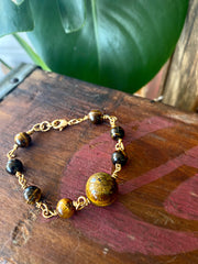 "Tiger's Eye ""Adventure"" Chain bracelet"