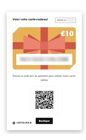 Exemple de carte cadeau Fishare