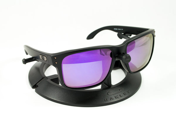 c28deaa86b9 ... Oakley Holbrook Matte Black Frame with Revant Optics Plasma Purple  Polarized Custom Lenses ...