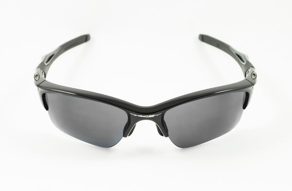oakley half jackets 9oba  Oakley Half Jacket 20 XL Polished Black Frame with Revant Stealth Black  Polarized Lenses