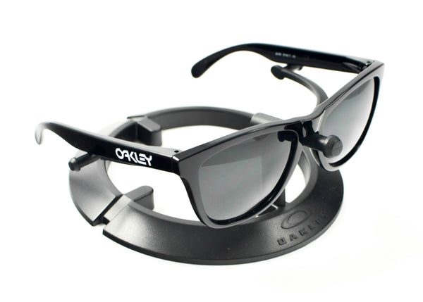 2260d1470d Oakley Frogskins Sunglasses Polished Black Frame Sky Blue Lens ...