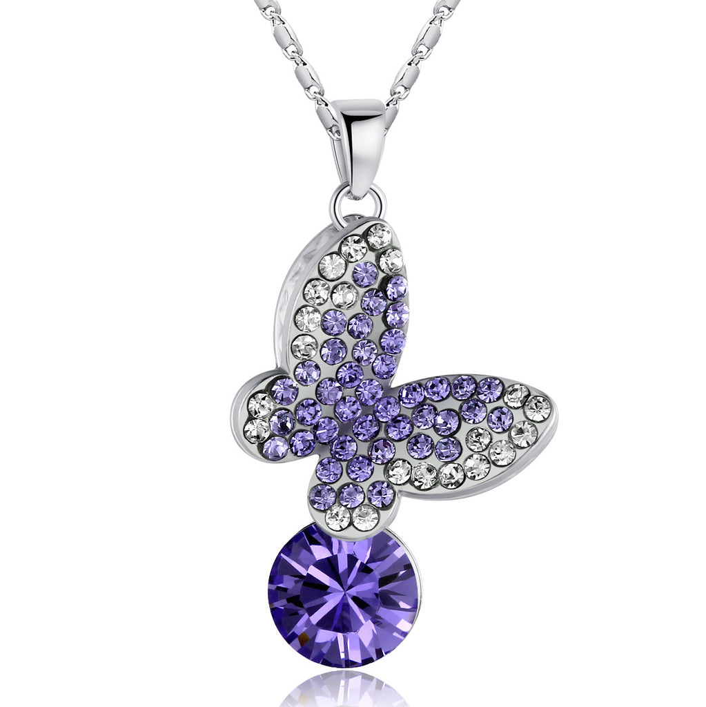 Queen of the Butterflies Necklace (Purple)