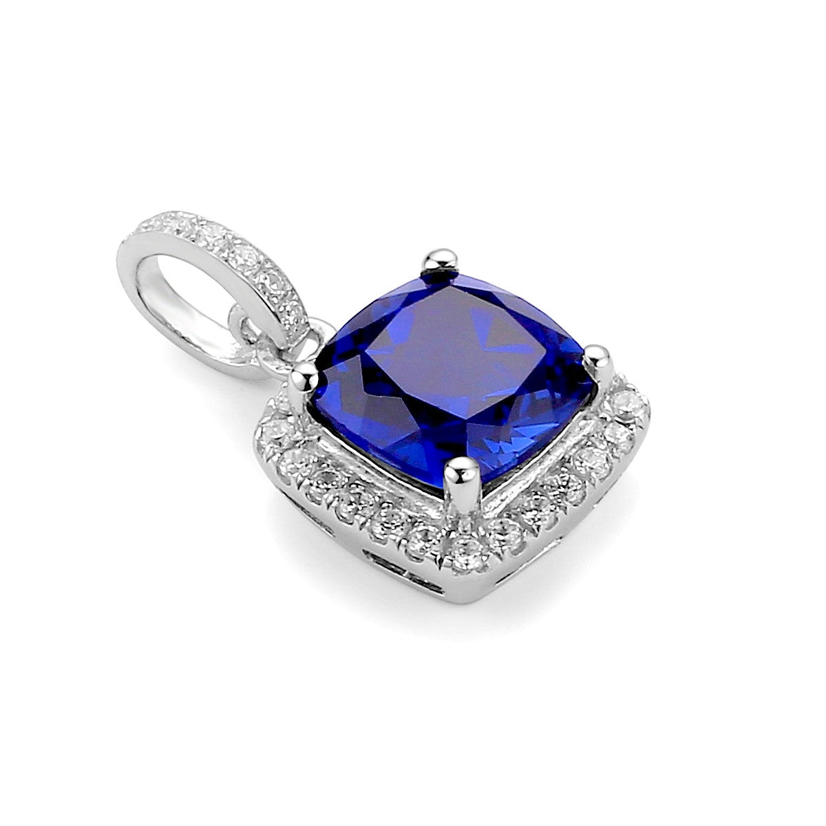 p labcreated cushion and accents ceylon white lab created ring with in v cut diamond cushioncut sapphire gold
