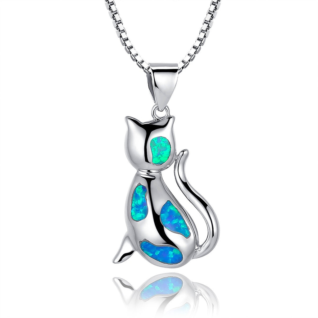 hp york products blue elegant new opal halo roselle pendant fire round