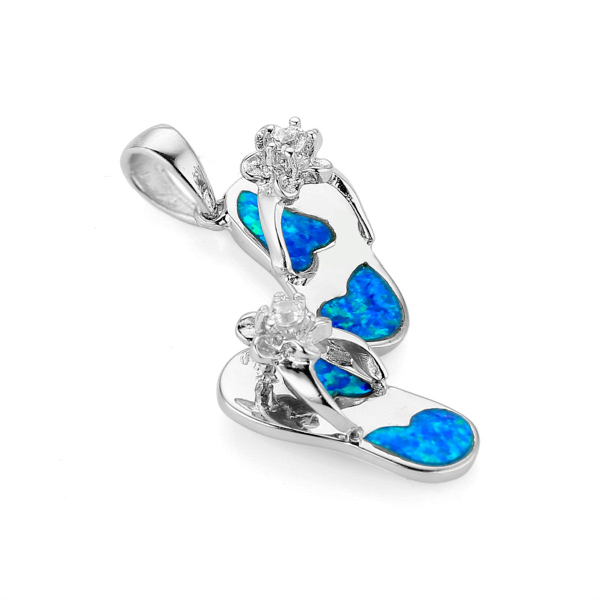 silver cubic diamond opal product sterling wholesale blue coconut tree simulated turquoise necklace fire design pendant zirconia