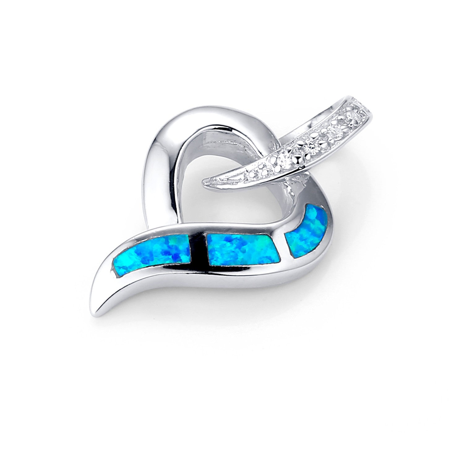 wholesale shipping free fire opal pendant double drop for shape jewelry blue from product necklace dolphin heart silver
