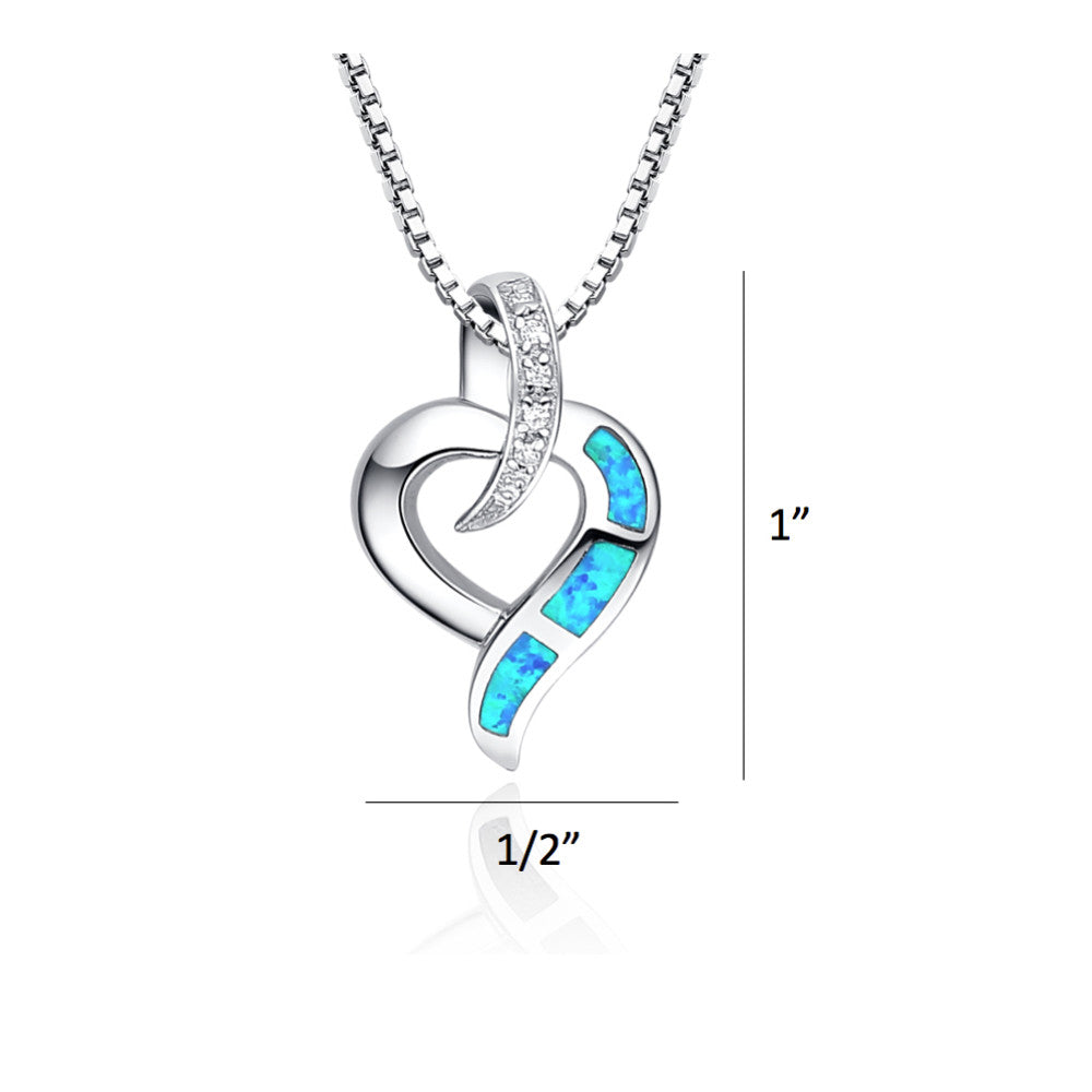 Sterling silver heart w blue and green fire opal pendant necklace sterling silver heart w blue and green fire opal pendant necklace mozeypictures Choice Image