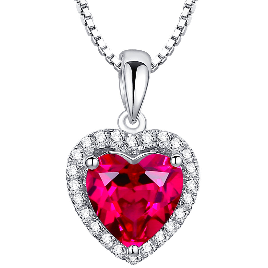 Sterling silver valentine heart 4ct ruby pendant necklace arco sterling silver valentine heart 4ct ruby pendant necklace aloadofball Choice Image