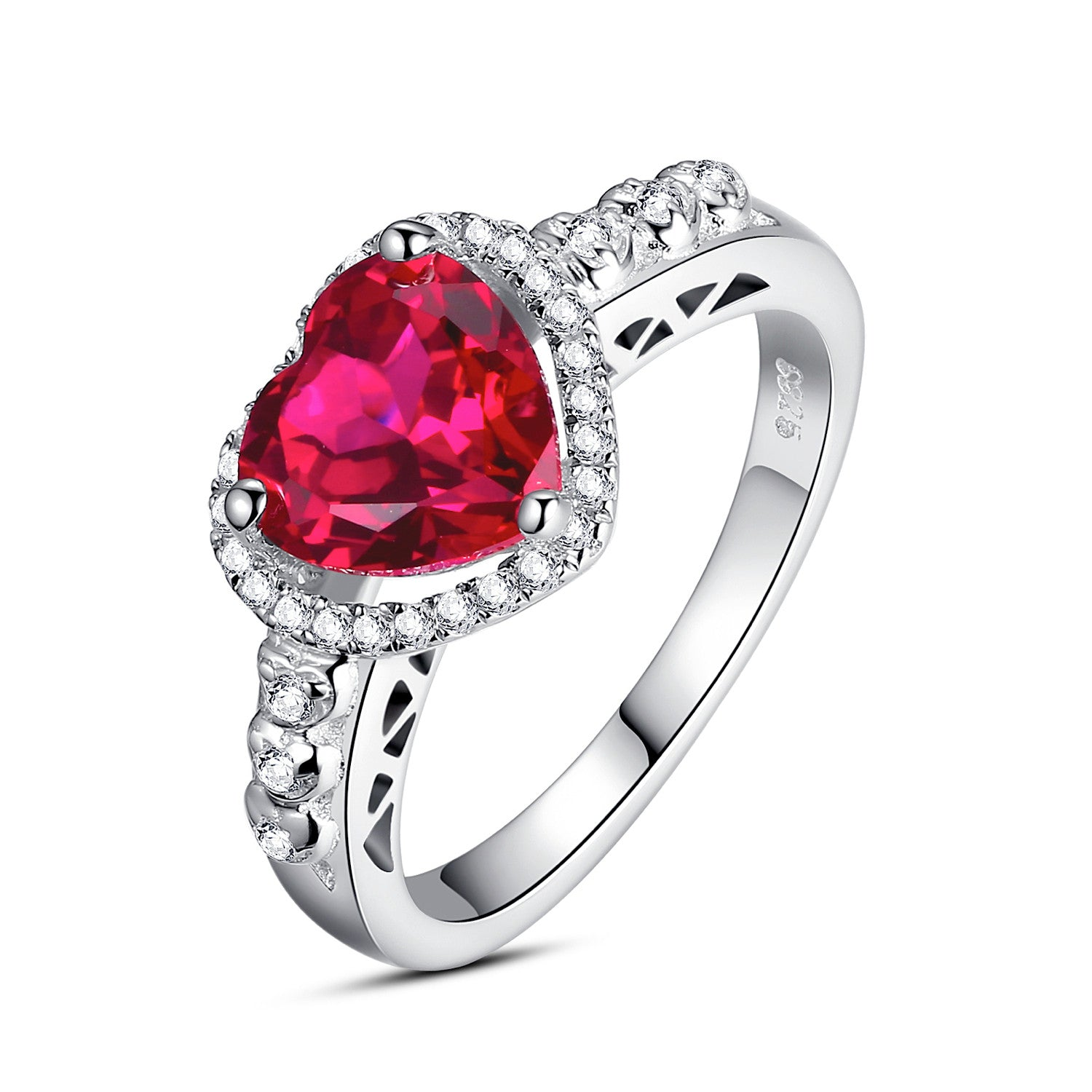 diamond rings aaa engagement and solitaire natural ring ruby yg three stone eternity