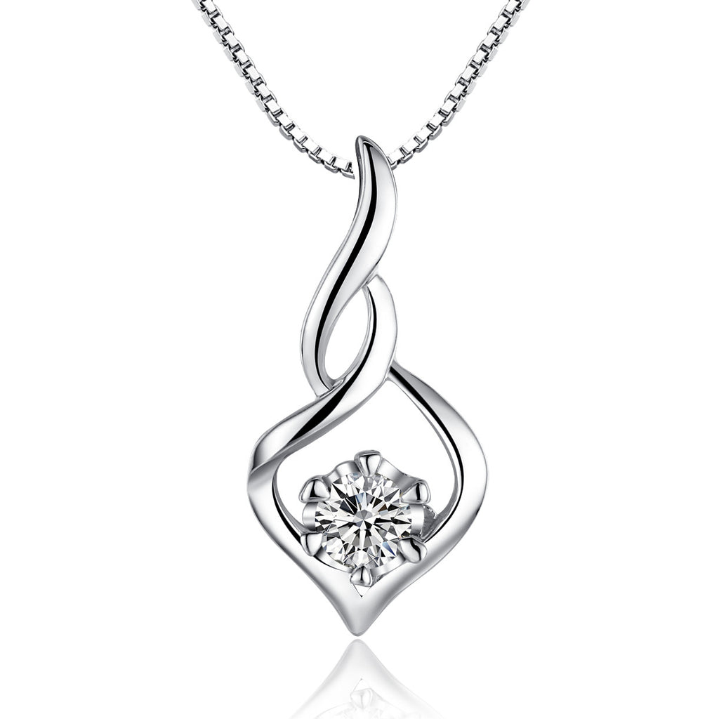 Sterling Silver Eternal Aurora W. Cubic Zirconia Pendant Necklace