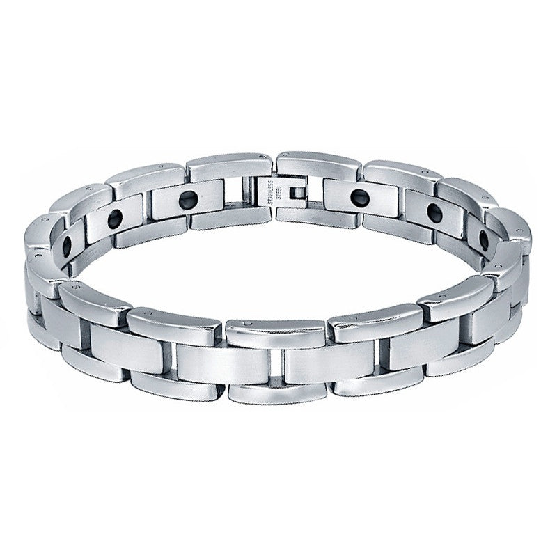 Stainless Steel Hematite Magnetic Therapy Bracelet