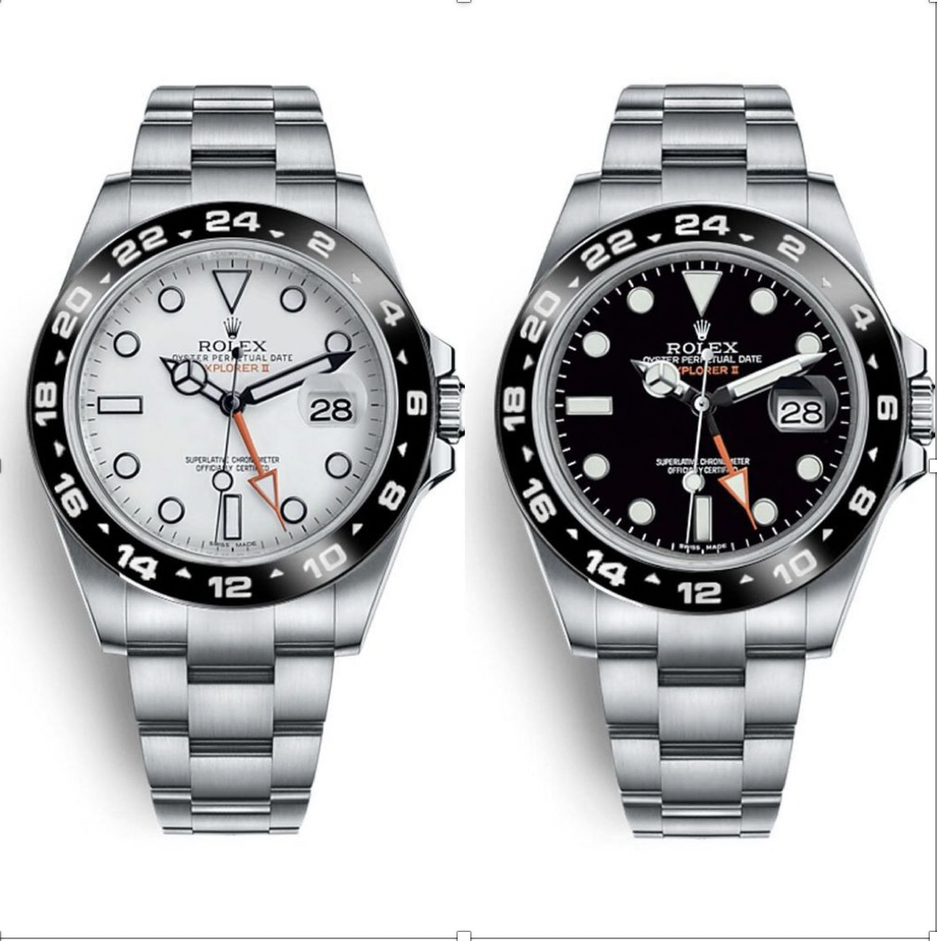 2 rolex explorers side by side