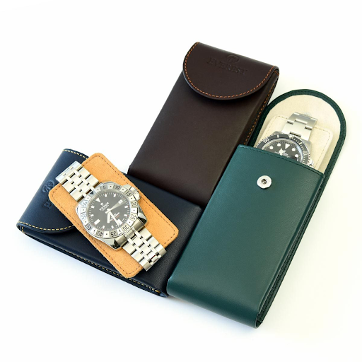 3 everest leather watch pouches