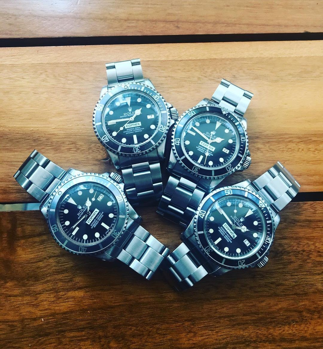 4 Rolex submariners special edition
