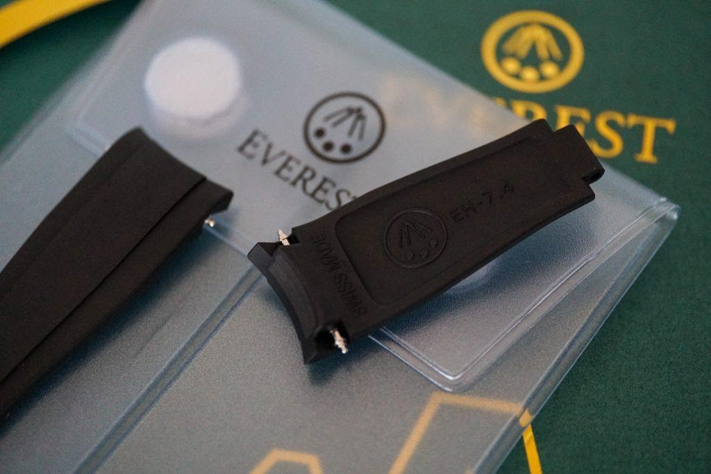 everest curved end rubber connection to rolex case