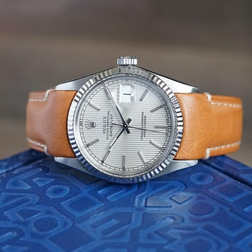 rolex datejust on leather everest band
