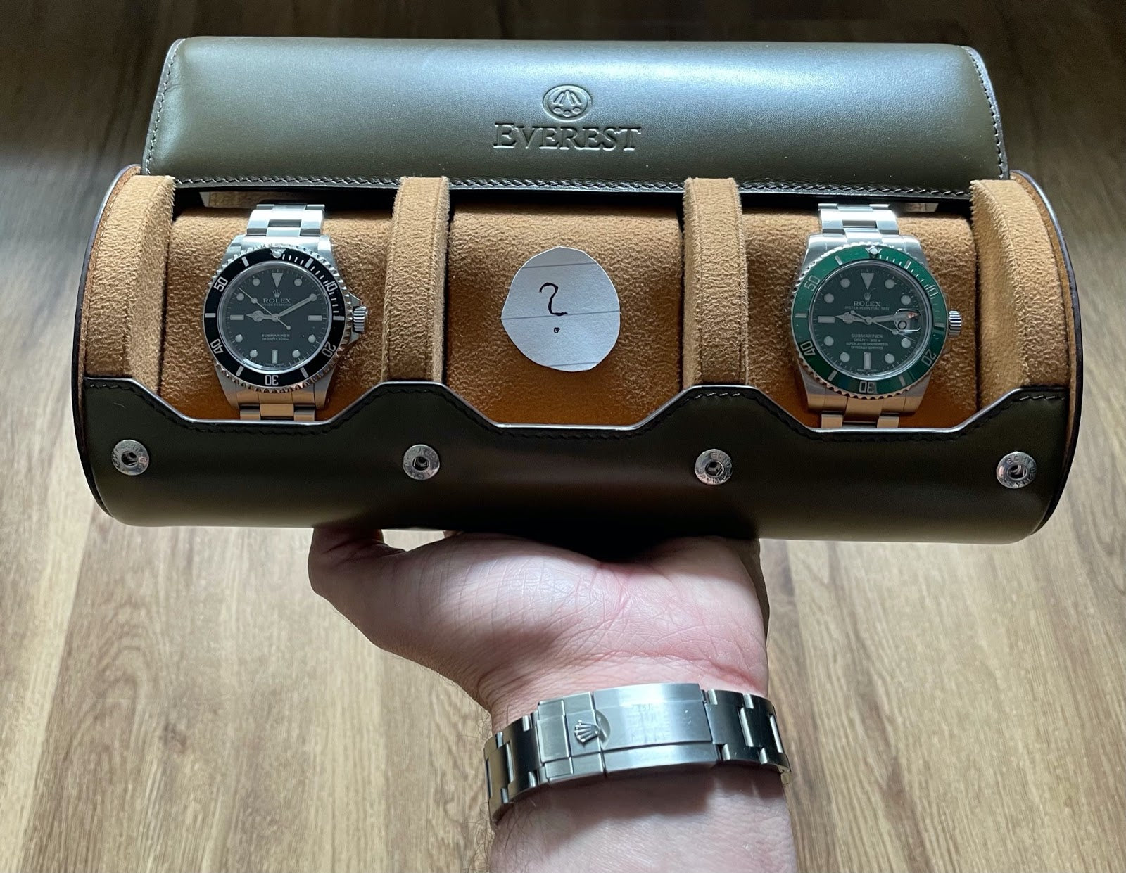everest watch roll with rolex watches inside