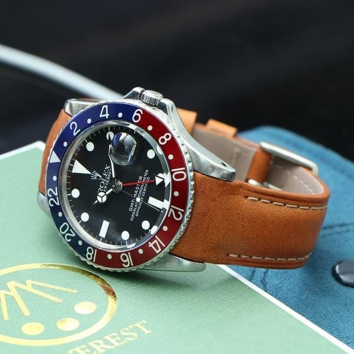 gmt rolex on leather everest band