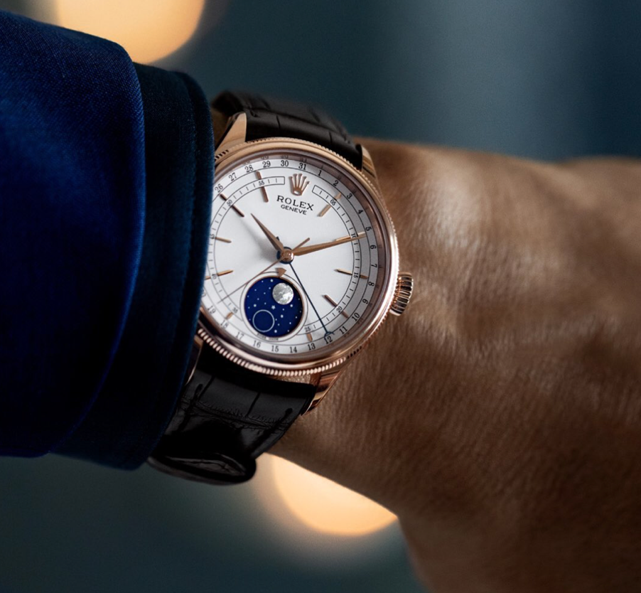 rolex cellini with moonphase complication