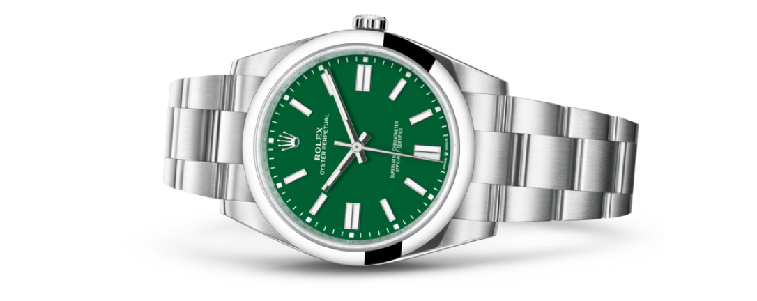 rolex oyster perpetual in green