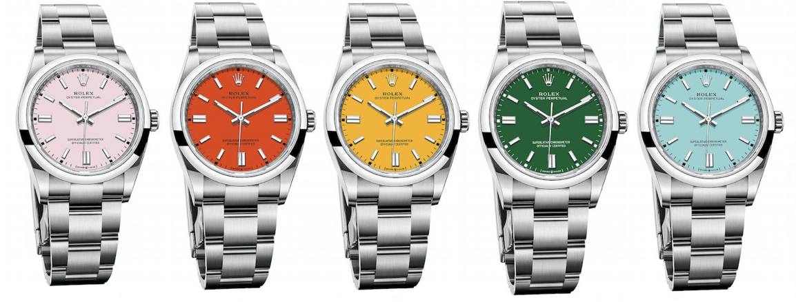 rolex colorful oyster perpetual 2020 line