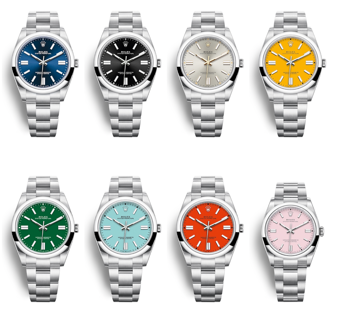 rolex oyster perpetual line of 2020 candy colors