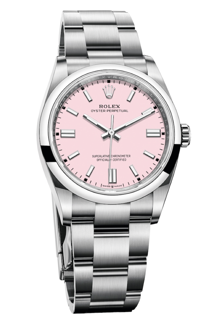 rolex oyster perpetual in pink