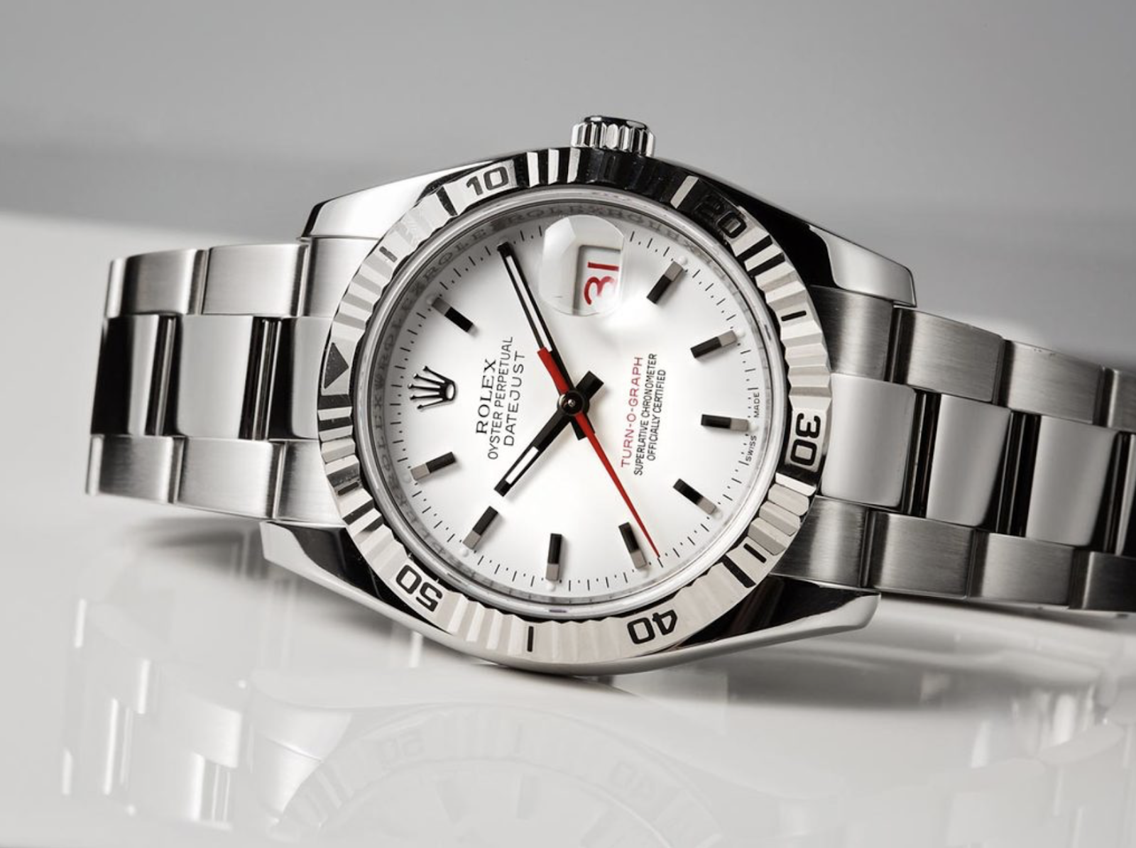 rolex datejust with red hand