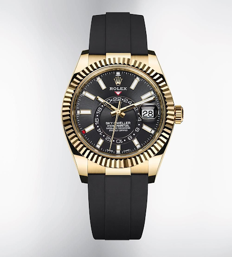 rolex skydweller on rubber