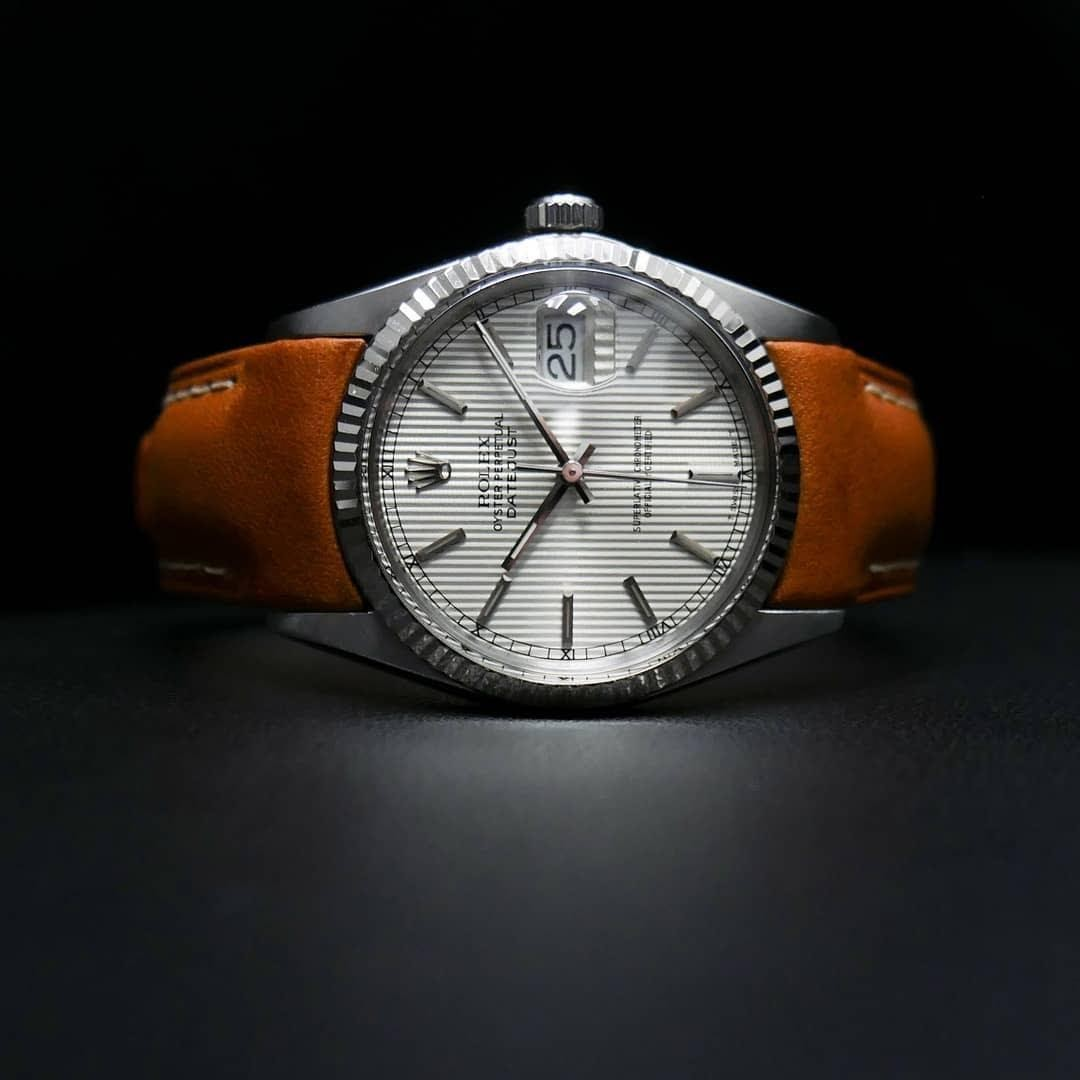 tan leather everest band on Rolex Datejust