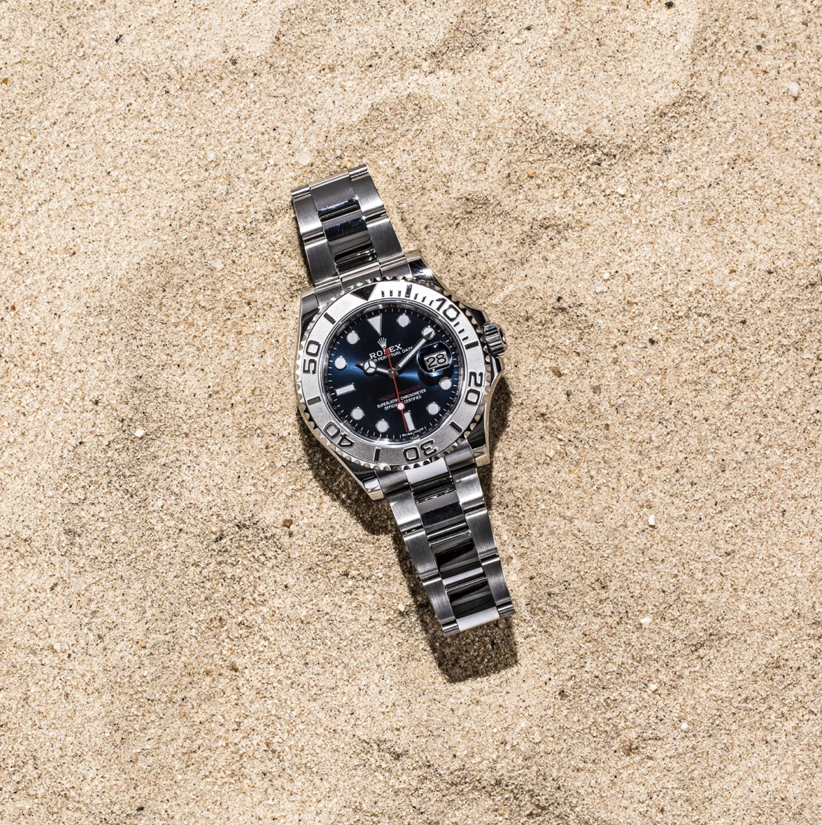 rolex yachtmaster in the sand
