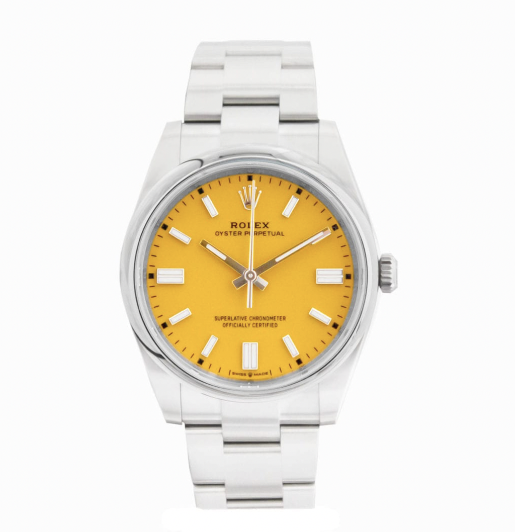 yellow rolex oyster perpetual