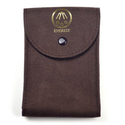 brown large watch travel pouch