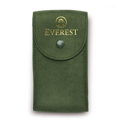 green suede watch travel pouch