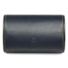 navy leather watch travel case roll