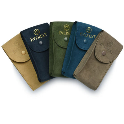 suede watch travel pouches