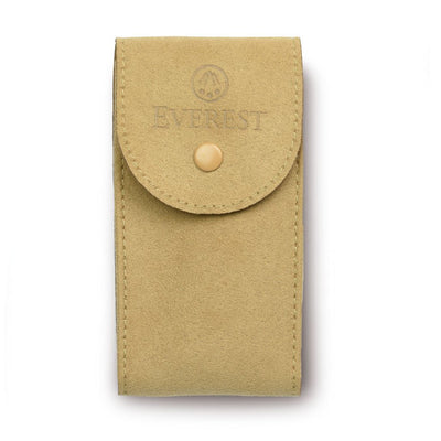 tan suede watch travel pouch