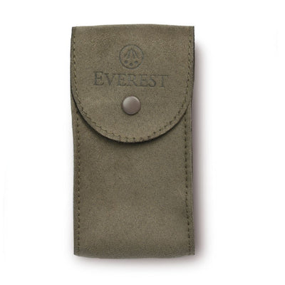 taupe suede watch travel pouch