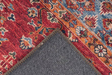 Laden Sie das Bild in den Galerie-Viewer, Teppich Faye Oriental-Look, Flachflor - Multi / Rot - carpetz