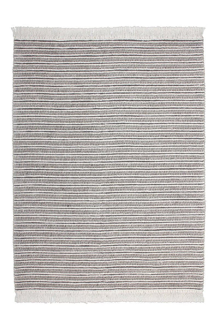 Natura 110 Natural / Grau, Wollteppich - carpetz