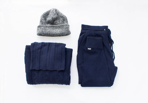 Surfer Cable Sweater and beach Pants