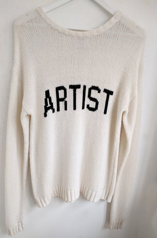 Artist Crew Neck Jumper| Ivory/Black -  EXCLUSIVE SAMPLE