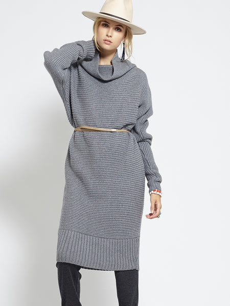 Horizontal Rib Tunic | Grey - EXCLUSIVE SAMPLE