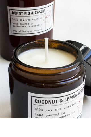 R2 Designs Cosmetic Jar Candle | Coconut & Lemongrass 120g