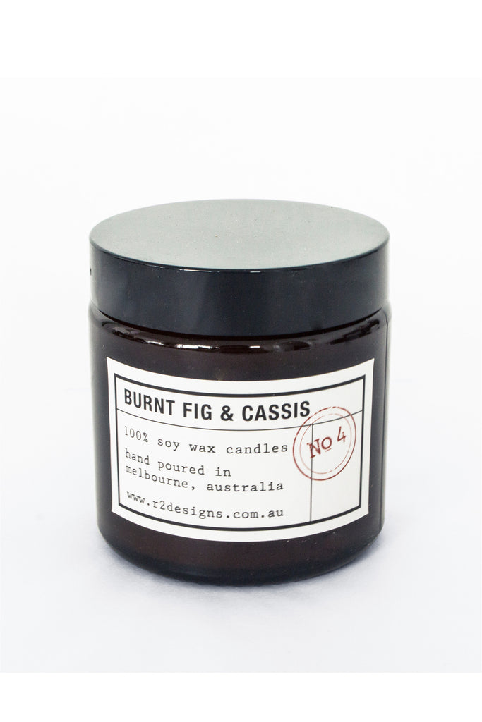 R2 Designs Cosmetic Jar Candle | Burnt Fig & Cassis 120g